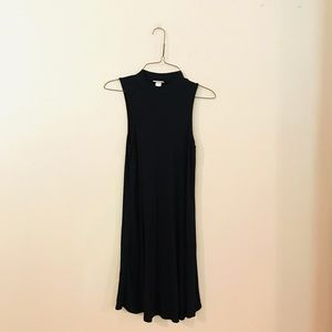 Black Knit Shift Style Dress